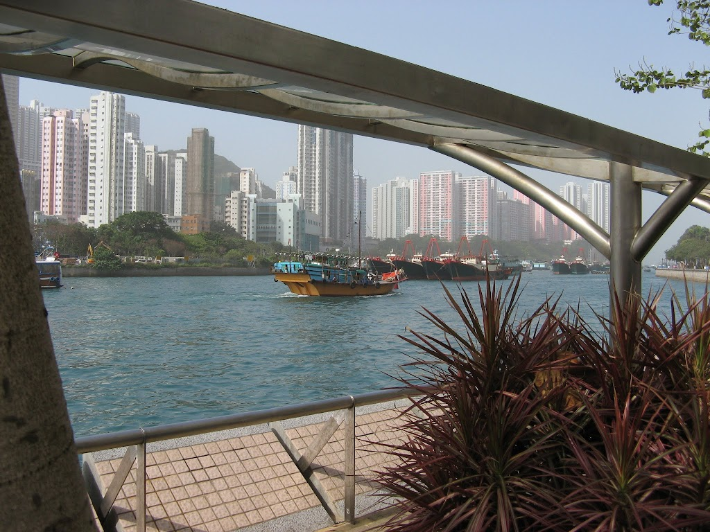 0020Sampan on Victoria Harbour