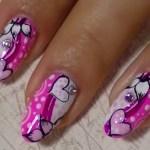 Nail Art with Acrylic Hearts
