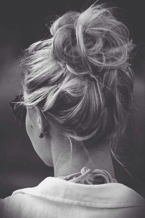 The simple updo for medium hair will still look fantastic even in a messy shape
