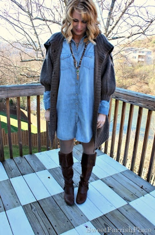 denim-shirtdress-chunky-long-cardigan-riding-boots-2