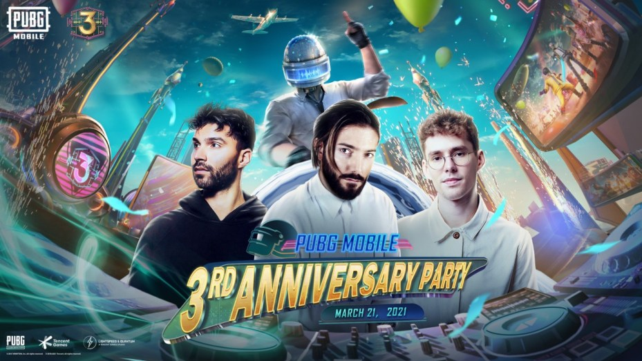 Alesso, Lost Frequencies and R3hab release new Tracks at Pubg Mobile Third Anniversary Performance this Sunday