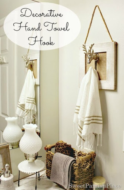 decorative hand towel hook