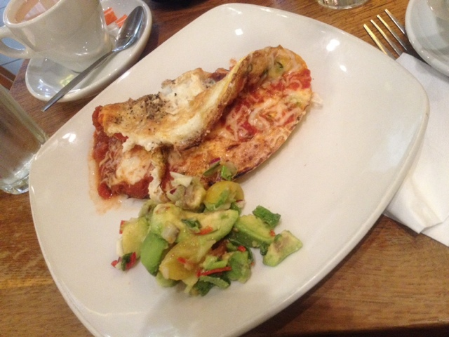 Roast vegetable omelette with Avocado salsa at Giraffe Trafford Centre