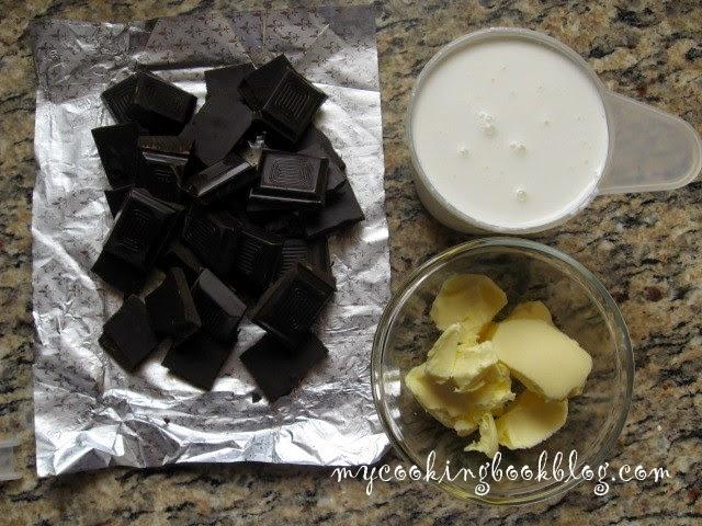 Шоколадов ганаш за заливане на тортата