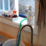 Hemma byggd anlägning för att få vatten tvätt