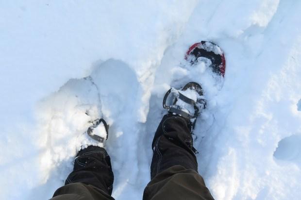 Ein Blick auf meine Schneeschuhe