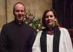 Rev. Tim Sledge with Ven. Karen Gorham