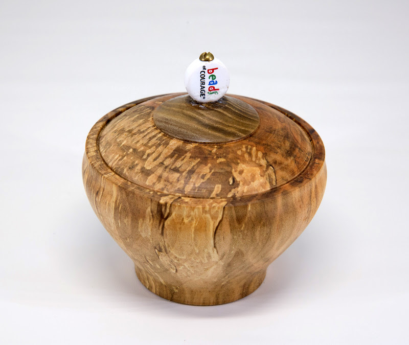 "Eliot Feldman 4"" x 4"" BoC box [spalted maple, bead]"