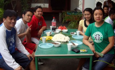 Faculty Lunch Table (From Left): Sir Jojo, Sir Jerome, Sir Ervin, Ma'am Charmagne and Ma'am Tina