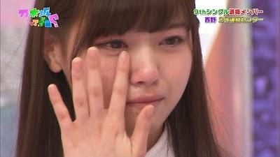 涙を流す西野七瀬(なぁちゃん)