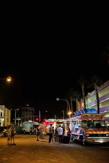 Food Trucks at the Life is Beautiful Festival 2014.