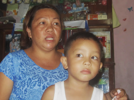 Ronnie Perante's widow and son, who wants to be a journalist