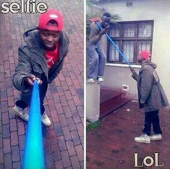 Photo Of The Day : When you can't afford a selfie stick.. 1