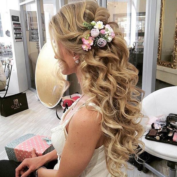 WATERFALL LOOK FOR AFRICAN BRIDE HAIR STYLES 4