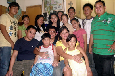 February 14: Andrew Calaycay Jr. with brother, eldest sister, nephew and niece