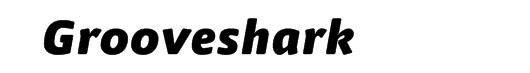 FF Nuvo Black Italic font logo Grooveshark