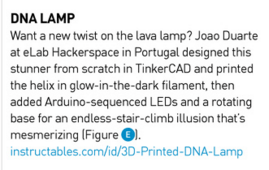 3d printed dna lamp make magazine