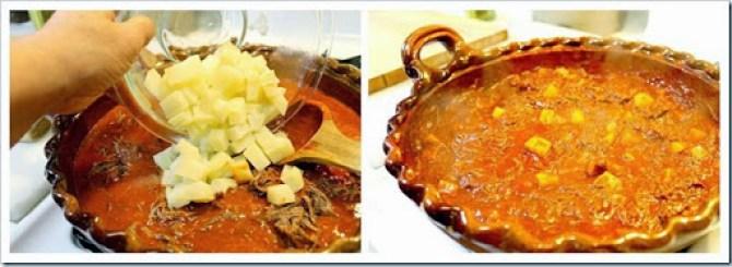 Shredde Beef in Guajillo sauce1