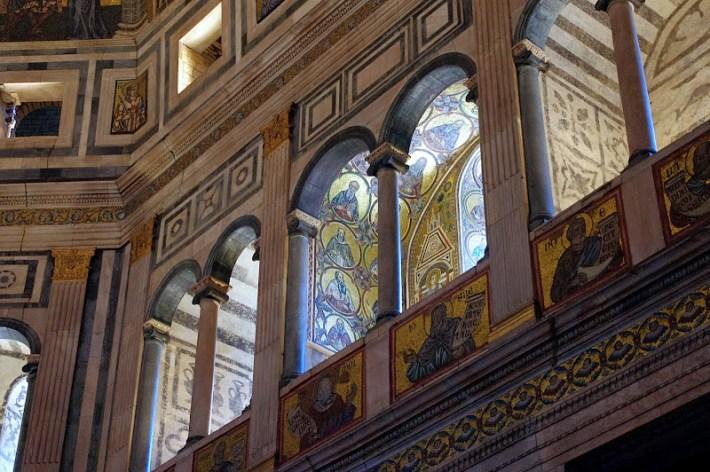 Interior del baptisterio de San Juan, Florencia