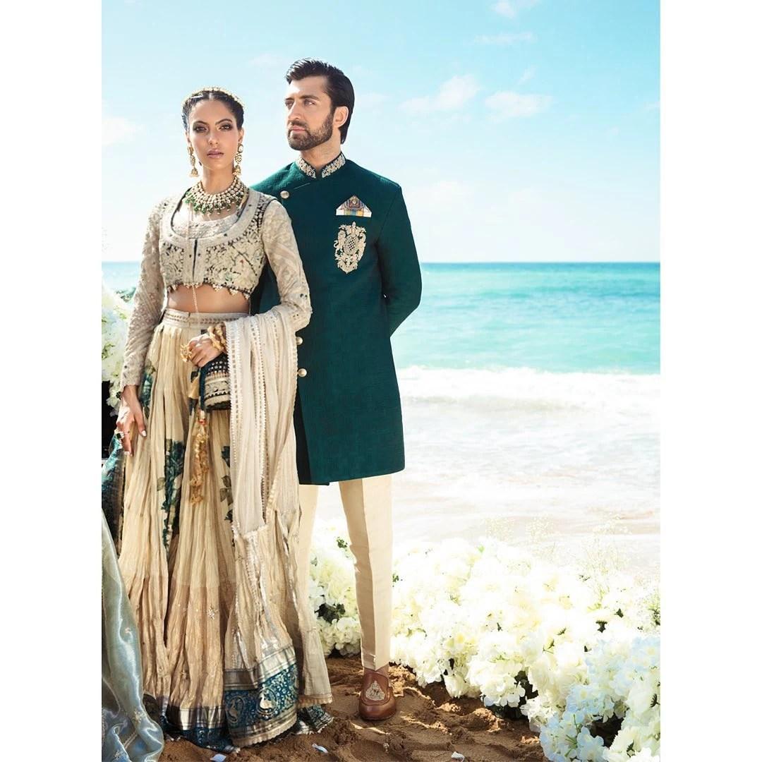 Shehla Chatoor bridal and groom wedding collection