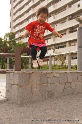 次女のジャンプ