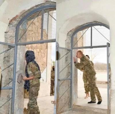 Azerbaijan President Kissing Walls of Agdam Mosque in Nagorno-Karabakh Went Viral