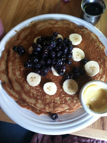 Amazing gluten-free pancakes at Watercourse Foods