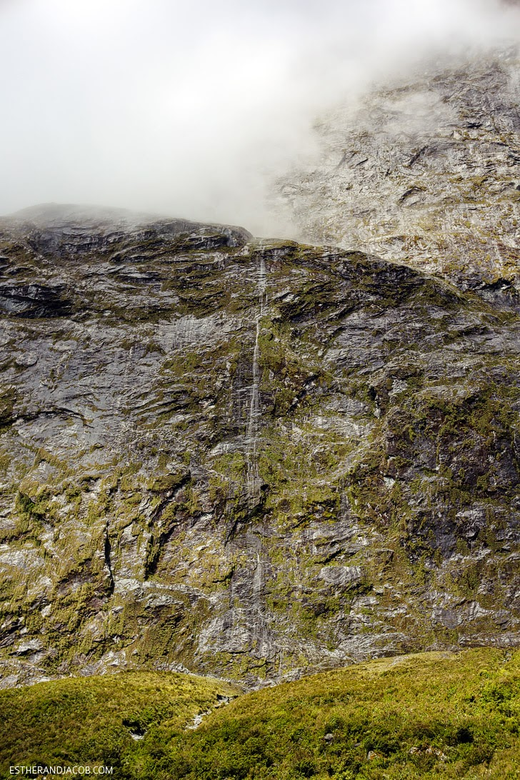 Valley of 1000 Waterfalls Milford Sound New Zealand.