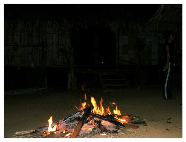 Jungle Camp fire Hilltribes in Northern Thailand