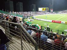 An India versus Pakistan match at the Sheikh Zayed Cricket Stadium in Abu Dhabi