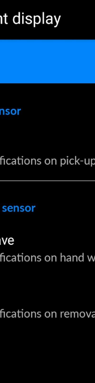 Pixel Plus UI Ambient Display settings