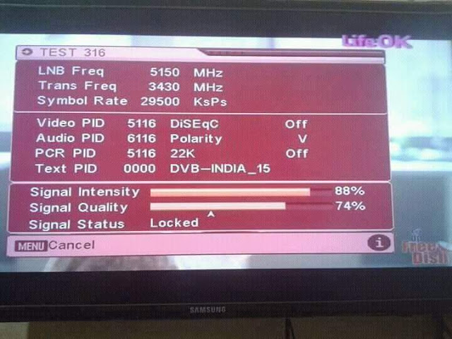 LIFE_OK added On #DD_Free_Dish replaced with TEST 316 1