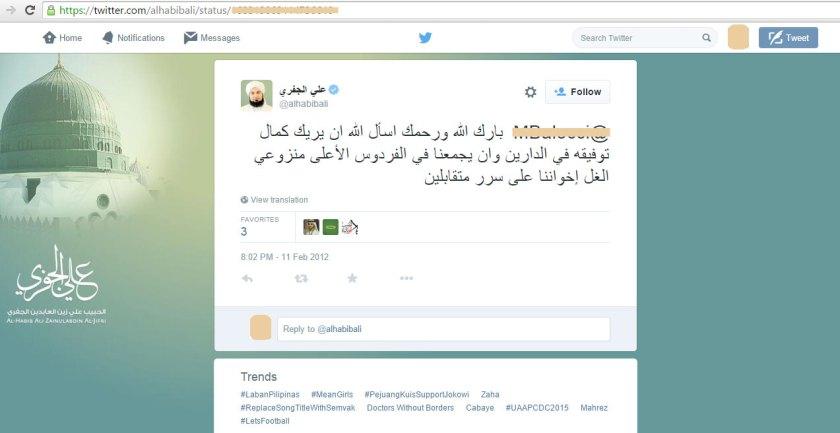 Balasan Habib Ali Al-Jufri atas Cacian dan Hinaan di Twitter