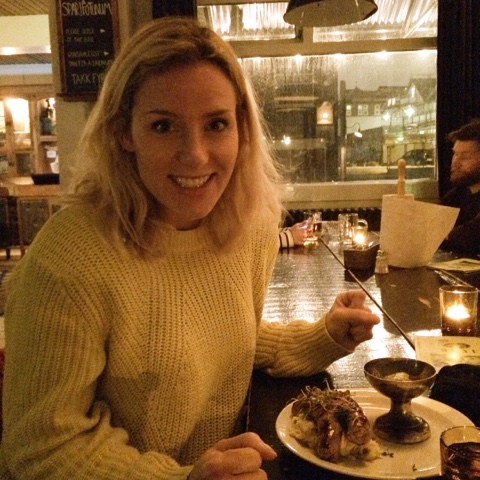 Kate excited for sausage and mash on Iceland food and drink