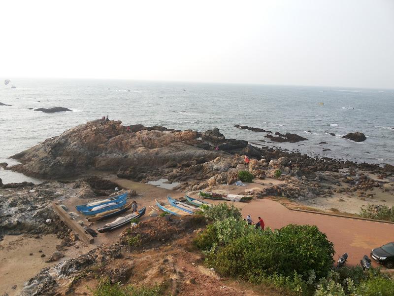 The rocky vagator beach - Goa
