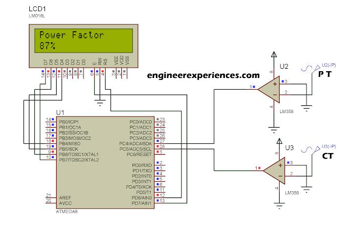 Power factor measurement using ATmega8 /16 | Engineer