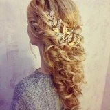 pretty long braided hairstyle 2017