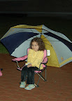 Isabella waiting patiently for the fireworks.