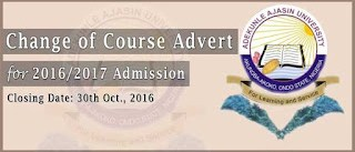 How to change course in AAUA 20 6/2017