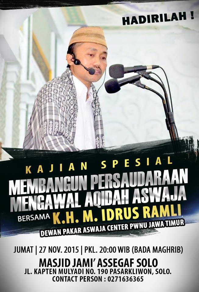 Agenda Safari Dakwah KH Muhammad Idrus Ramli di Solo