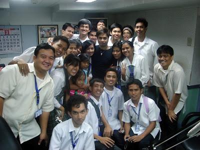 March 12: Students together with Arnel Ignacio, host of DZBB AM Radio program.