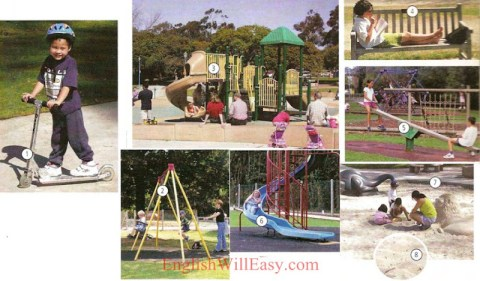 Playground, pre-scholl - Picture Dictionary