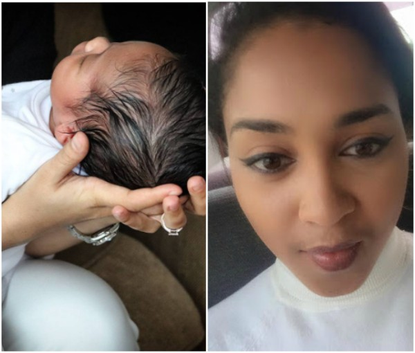 Dbanj Shares Beautiful Photo Of His Wife Carrying His Son
