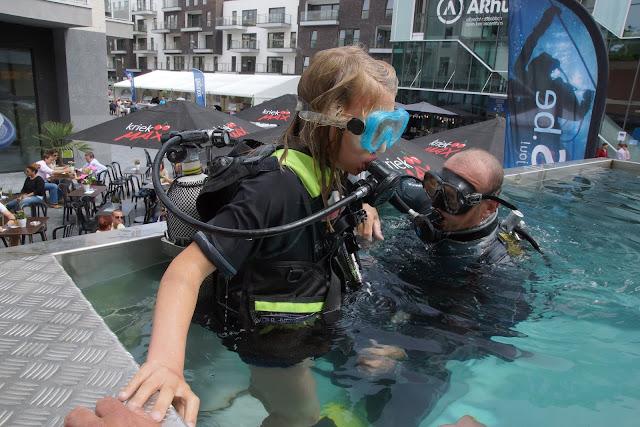 duiken in een duiktank