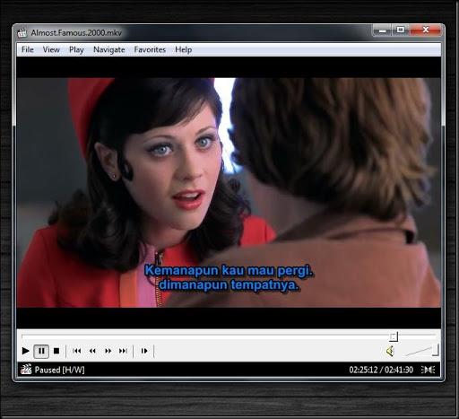 cara mengganti warna subtitle film
