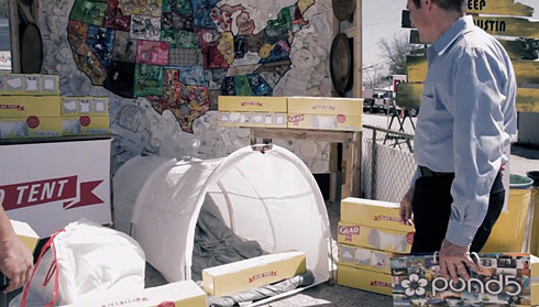 *垃圾袋帳篷Trash Bag Tent:GLAD綠色環保新設計! 5