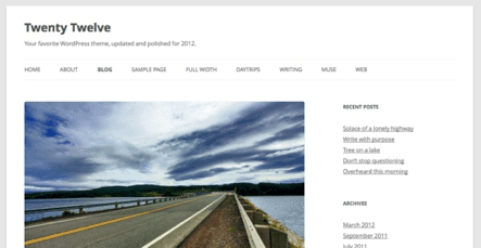 Twenty Twelve de WordPress 3.5 ya está disponible!