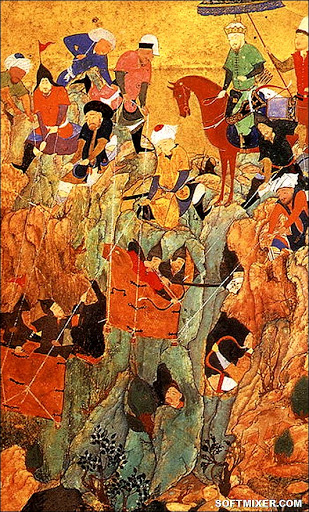 Timur's_army_attacks_Nerges,_Georgia