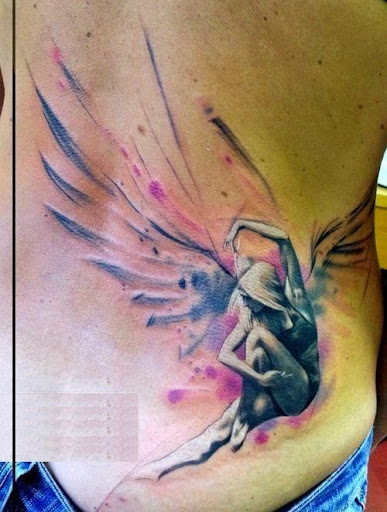 watercolor angel tattoos