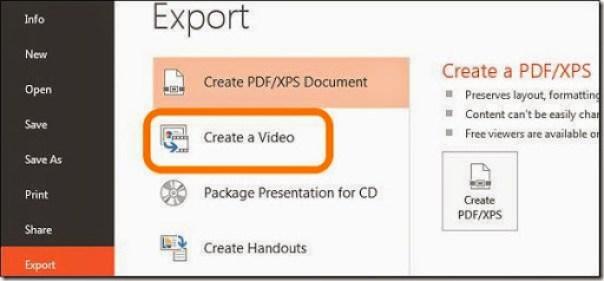 merubah file powerpoint menjadi video
